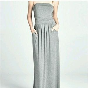 New strapless maxi dress with pockets